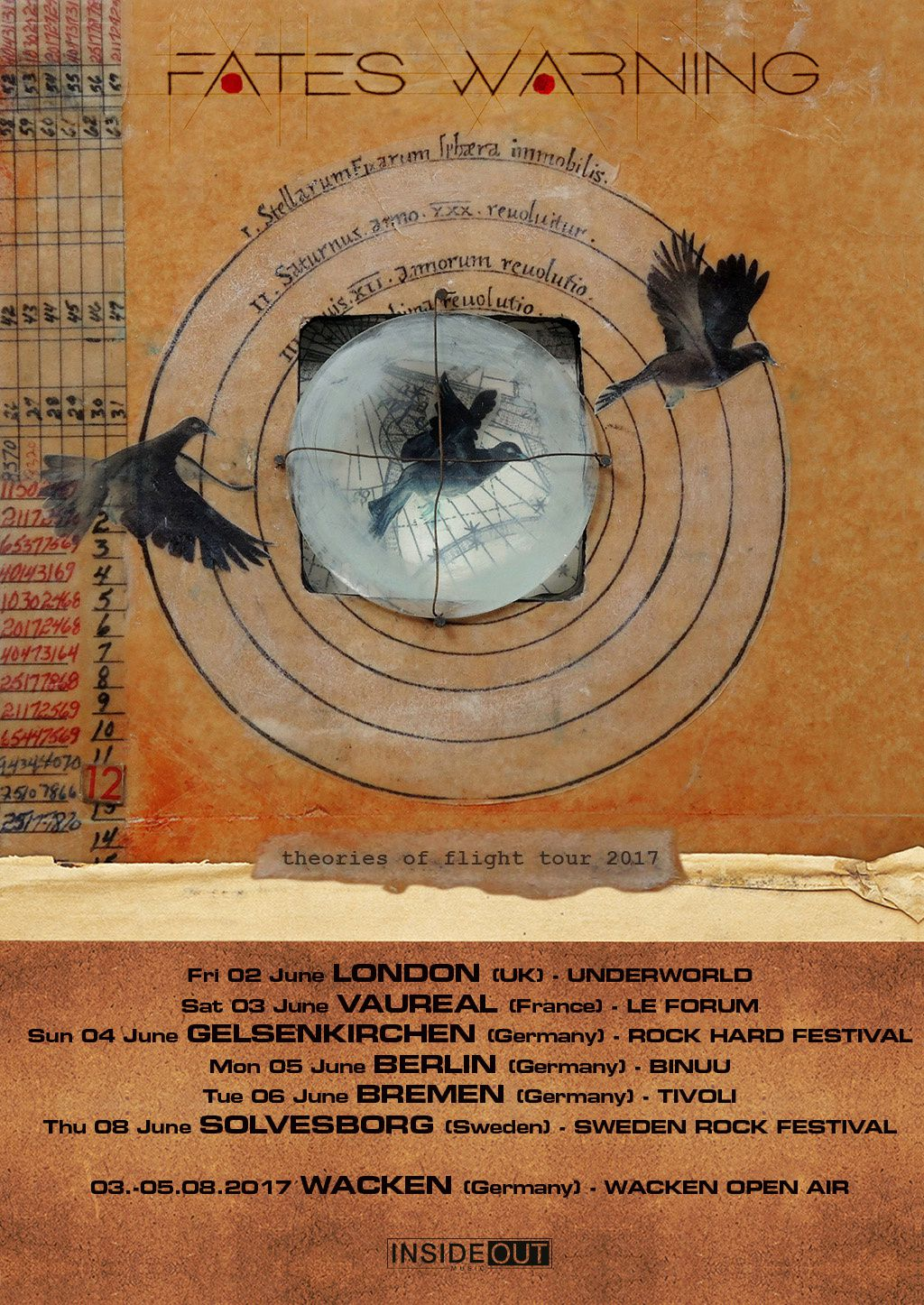 Additional FATES WARNING tour dates for Europe