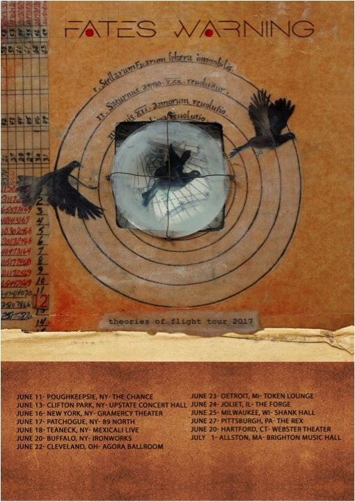 FATES WARNING announces US tour dates for summer 2017