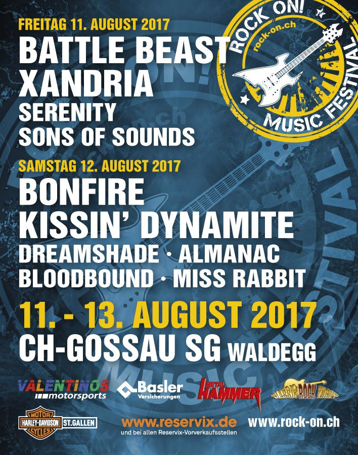Line-up ROCK ON festival 2017