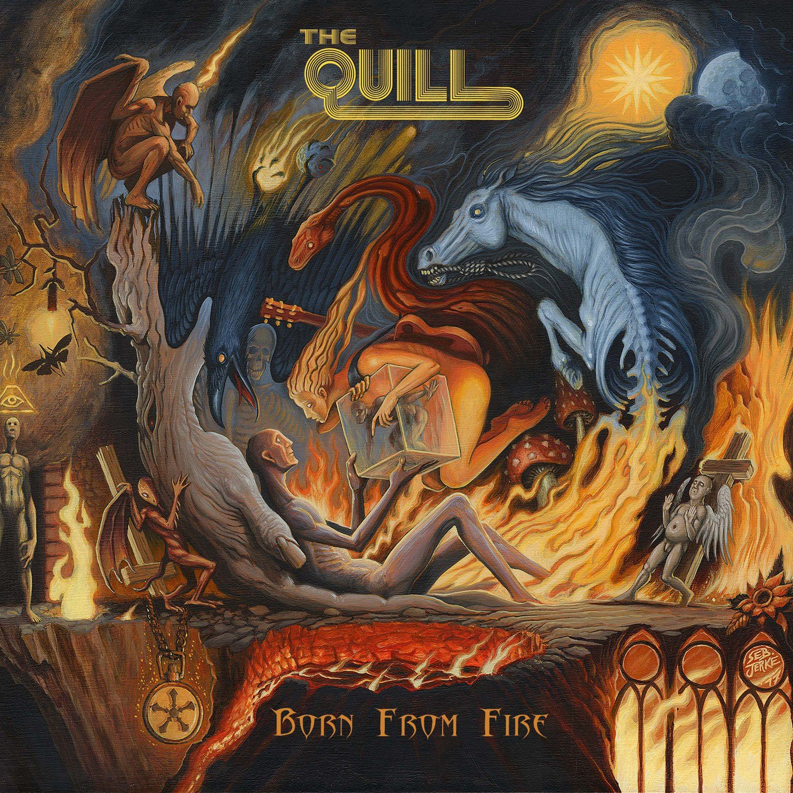 """CD review THE QUILL """"Born From Fire"""""""