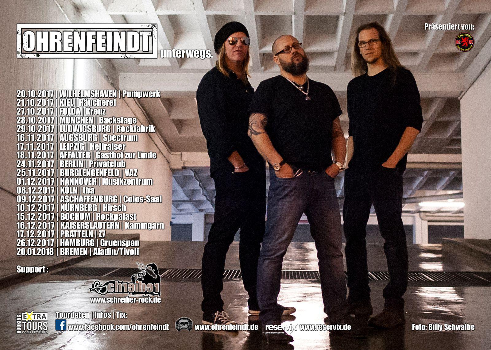 Tour dates OHRENFEINDT