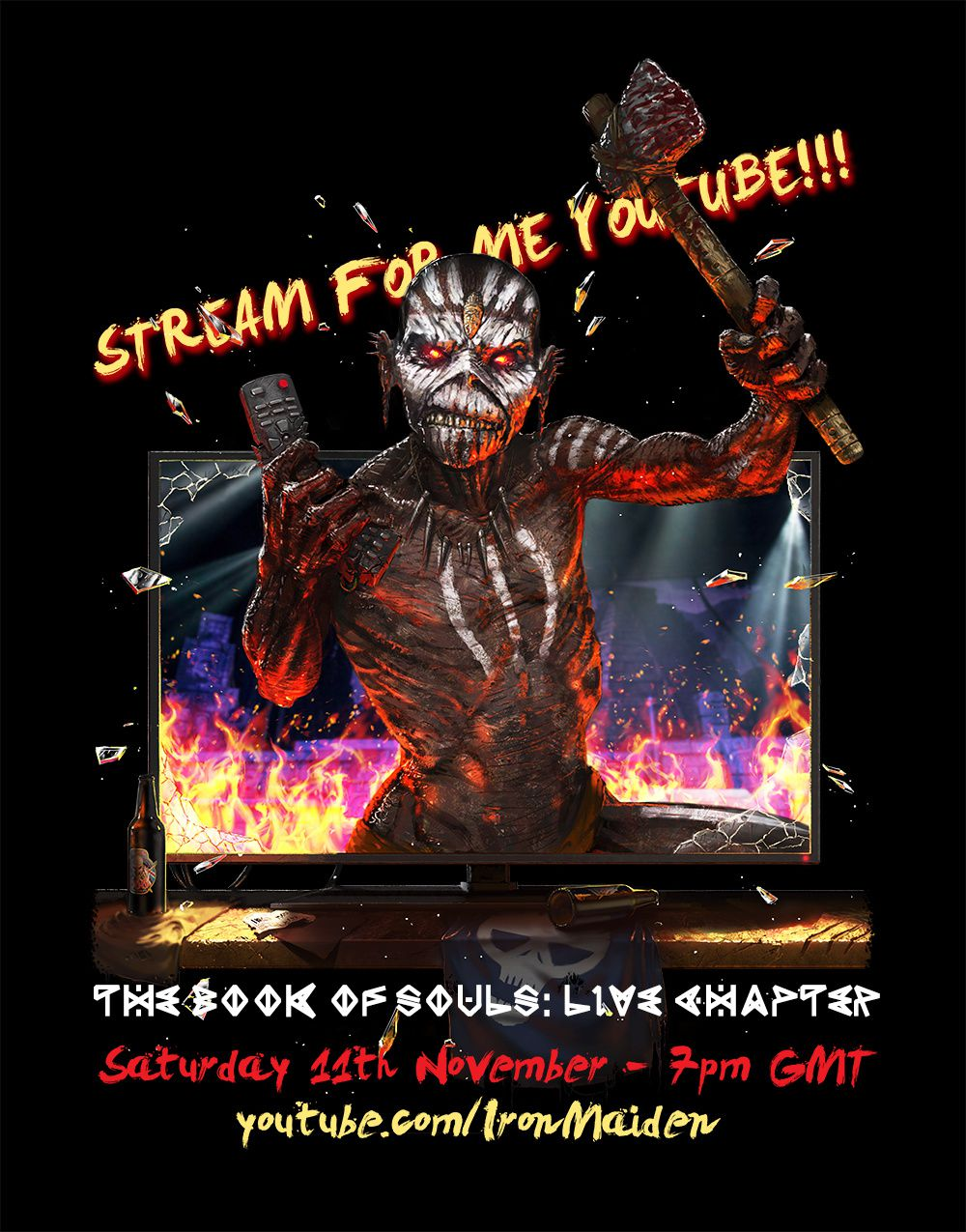 """IRON MAIDEN will stream """"The Book of Souls - Live Chapter"""""""