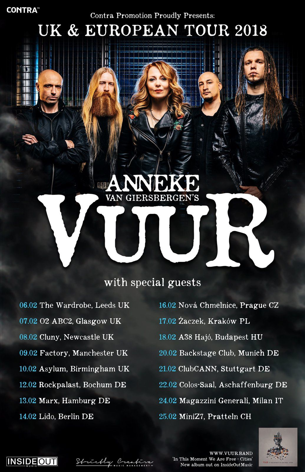 VUUR live dates for UK and Europe