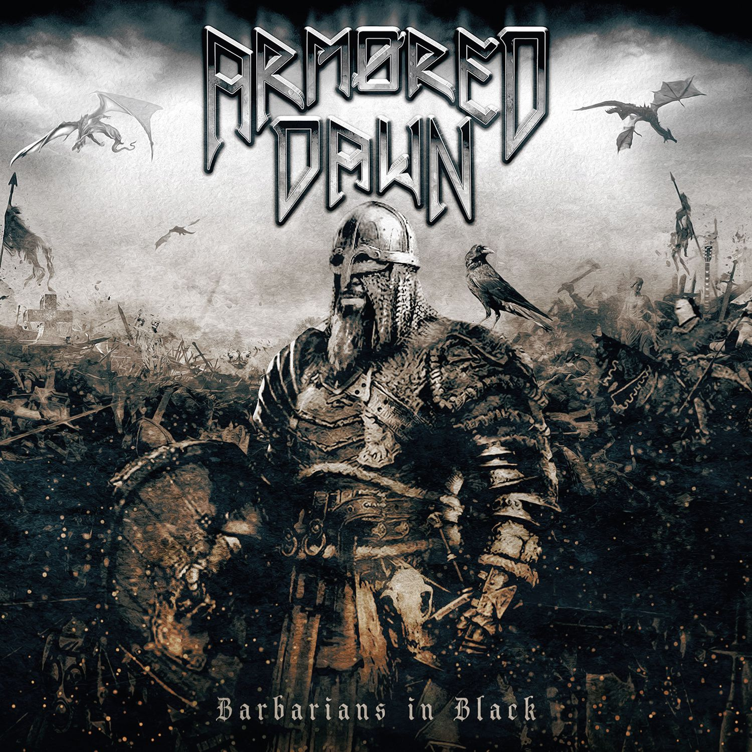 "CD review ARMORED DAWN ""Barbarians in Black"""