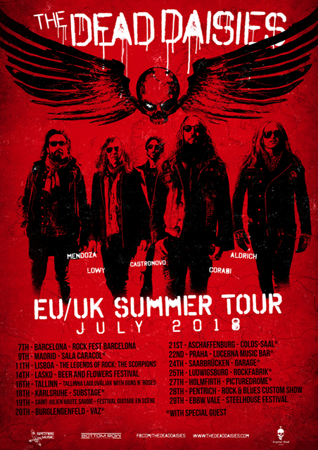 THE DEAD DAISIES announce Europe/UK summer tour