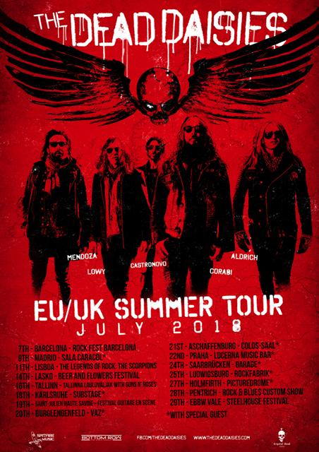 THE DEAD DAISIES announce Europe/UK summer tour