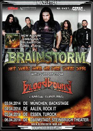 News from BRAINSTORM about album and shows