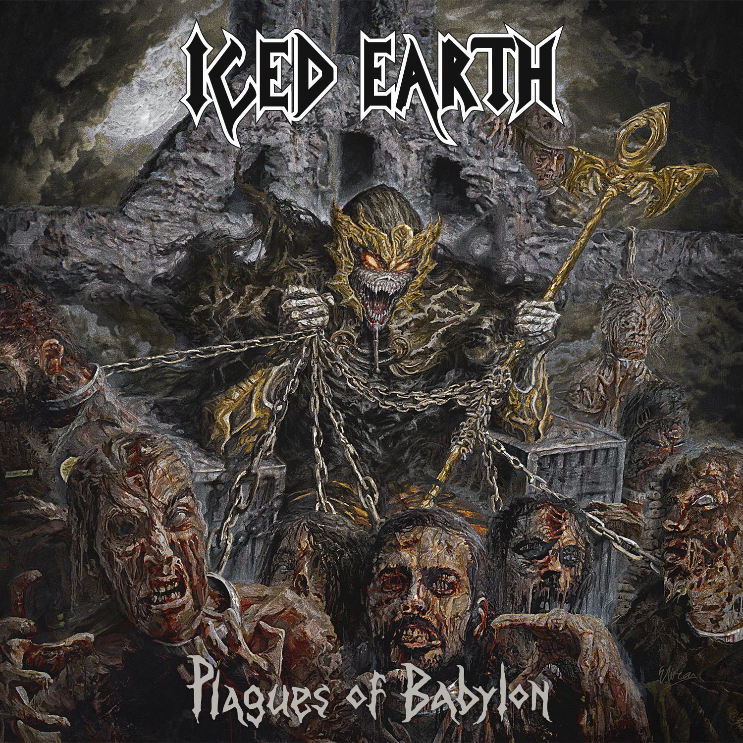 """CD review ICED EARTH """"Plagues of Babylon"""""""