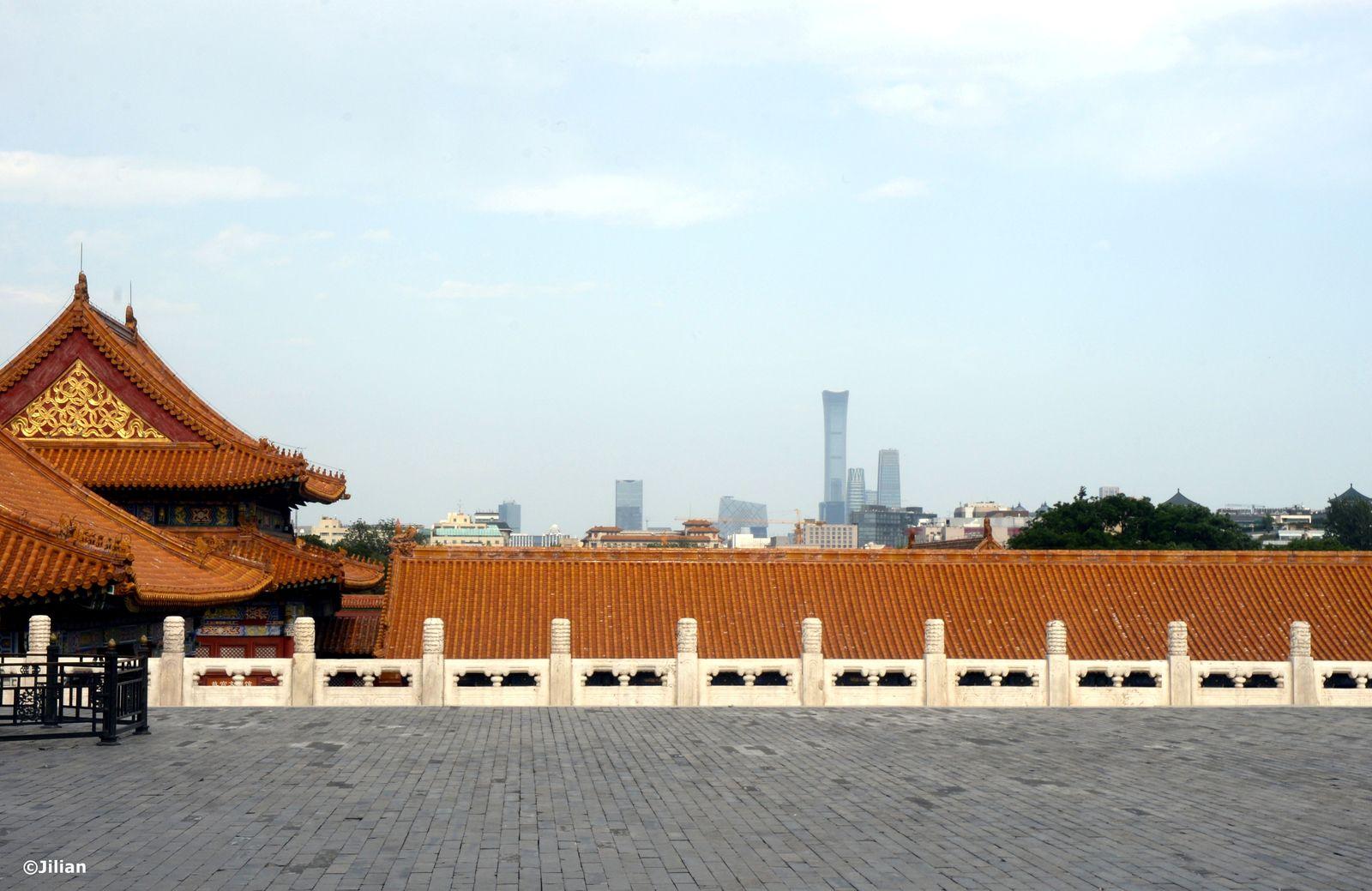 Les immeubles modernes, à l'est de Beijing