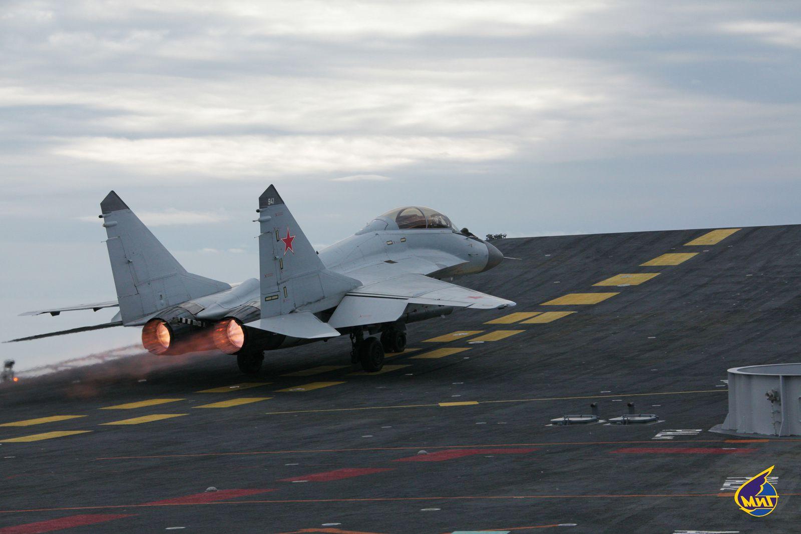 Un MIG-29KR/KUBR de la Marine Russe s'est écrasé en Méditerranée Orientale