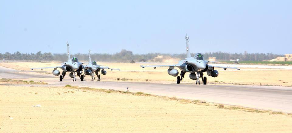 © Egyptian Ministry of Defence - Arrivée des trois premiers Rafale monoplaces en Egypte.
