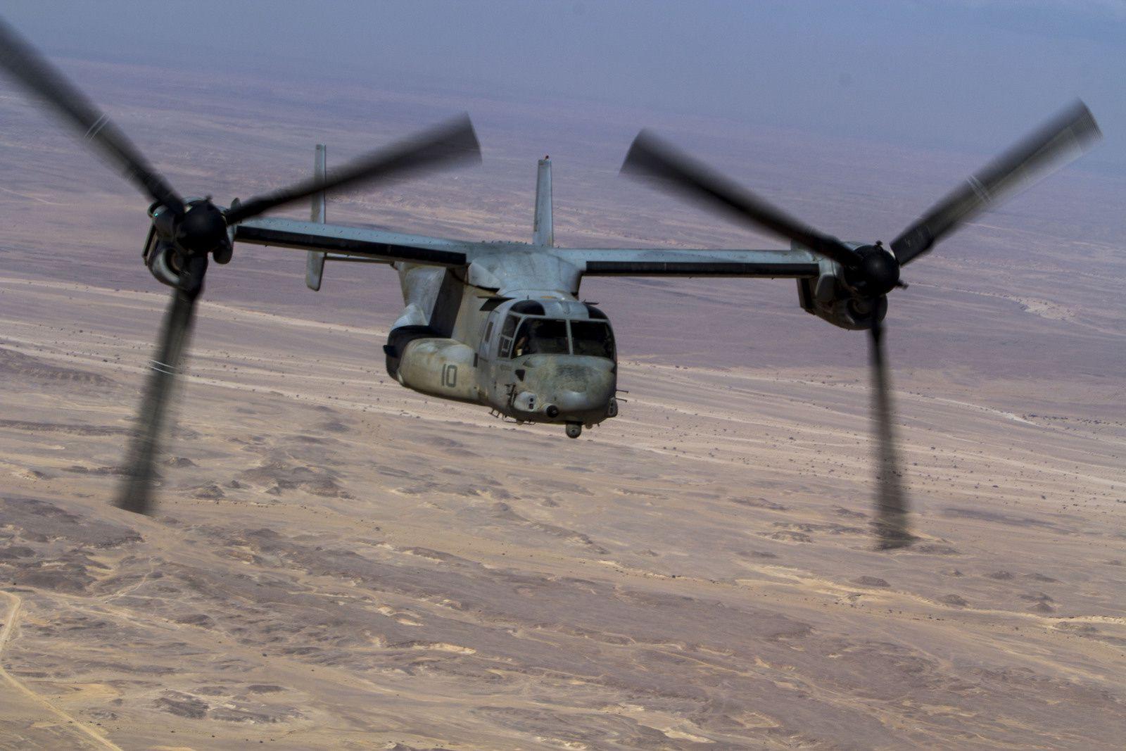 Un MV-22 Osprey de l'US Marine Corps a réalisé un poser dur en Syrie