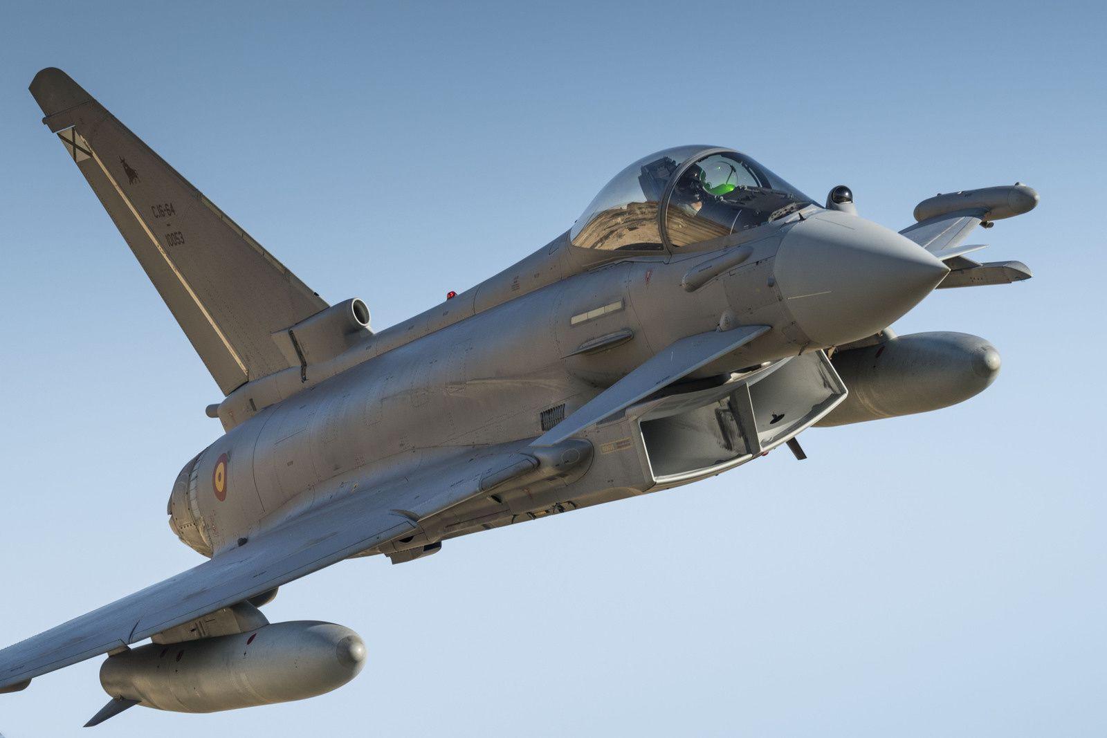 Un Typhoon de l'Ejército del Aire s'est écrasé à l'atterrissage