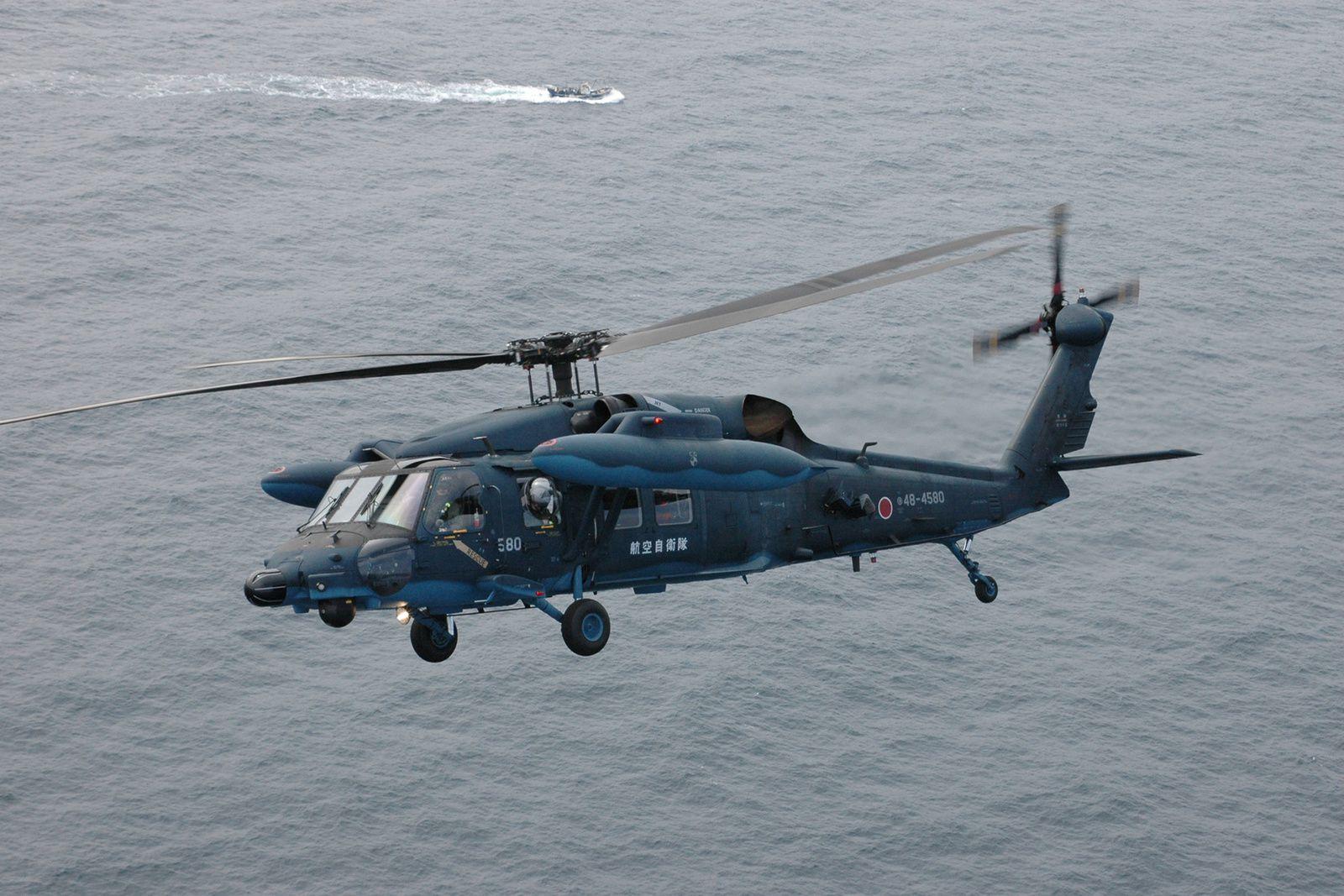 Un hélicoptère UH-60J japonais s'est abîmé au large des côtes du Japon