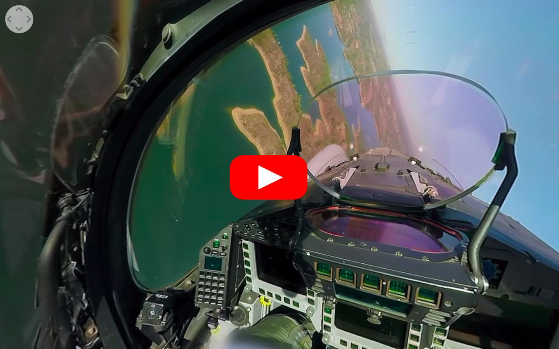 VIDEO 360° - Installez-vous dans le cockpit d'un Typhoon de l'Ejército del Aire
