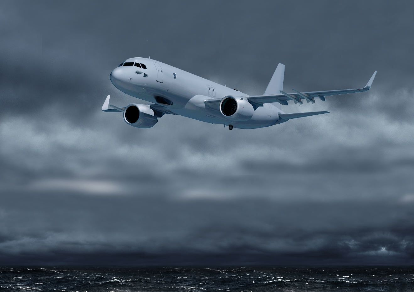 © Airbus - L'A320neo ici imaginé dans sa version de patrouille maritime (image de synthèse).
