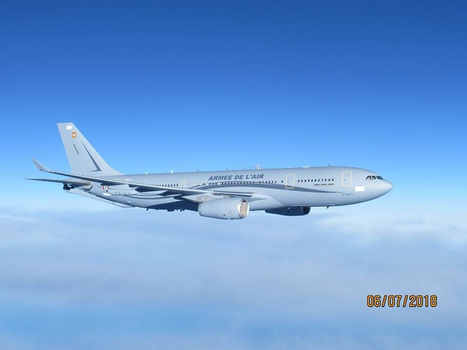 © Armée de l'Air - Le premier A330 MRTT Phénix de l'armée de l'Air porteur de sa peinture.