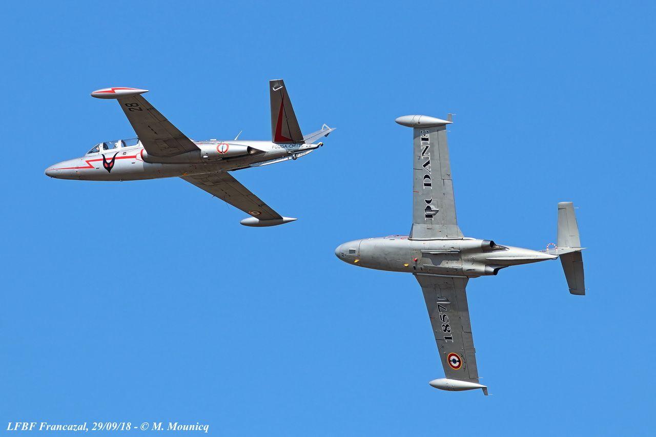 A Francazal les Cocardes Marines ont fait évolué 5 belles machines dans un ciel parfait.