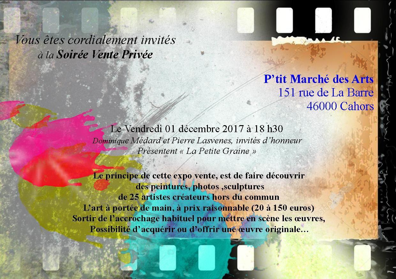 P'TIT MARCHÉ DES ARTS HORS NORMES, à Cahors, art singulier et petits formats, j'y serai !