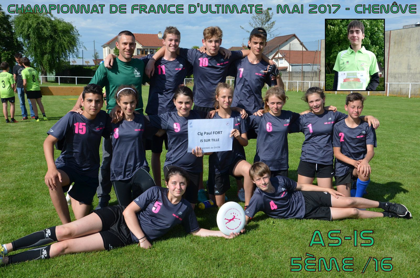 5ème place au Championnat de France d'Ultimate 2016/2017