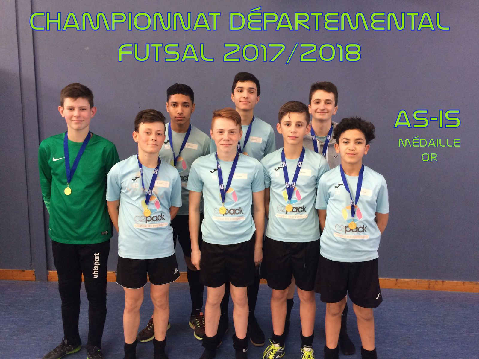 AS-IS Champion Départemental 2017/2018 - FUTSAL