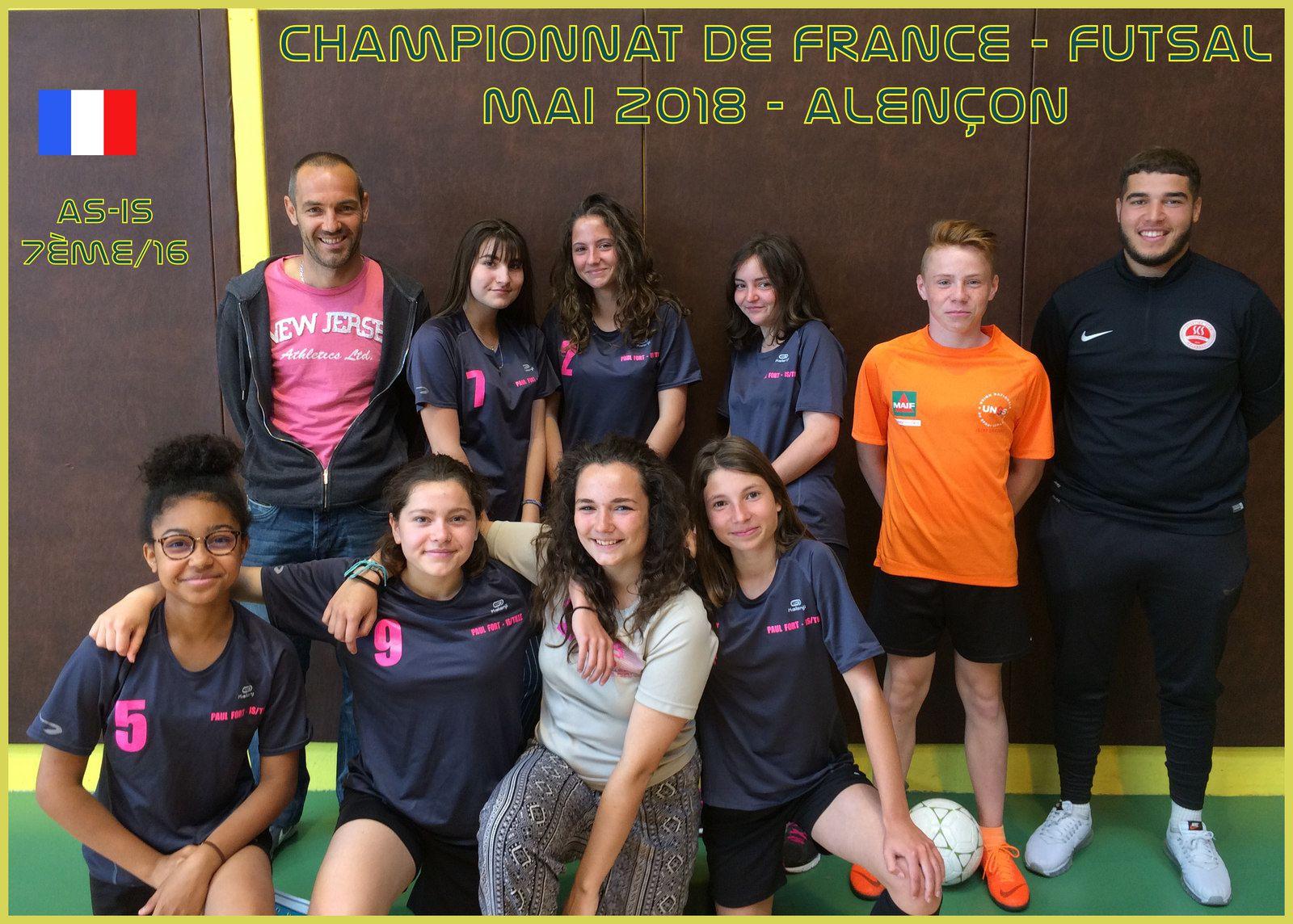"""Première participation au """"France"""" de Futsal pour l'AS-IS !"""