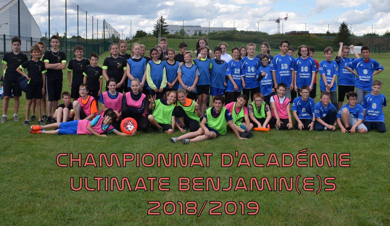 CHAMPIONNAT ACADEMIE ULTIMATE BENJAMIN(E)S 2018/2019