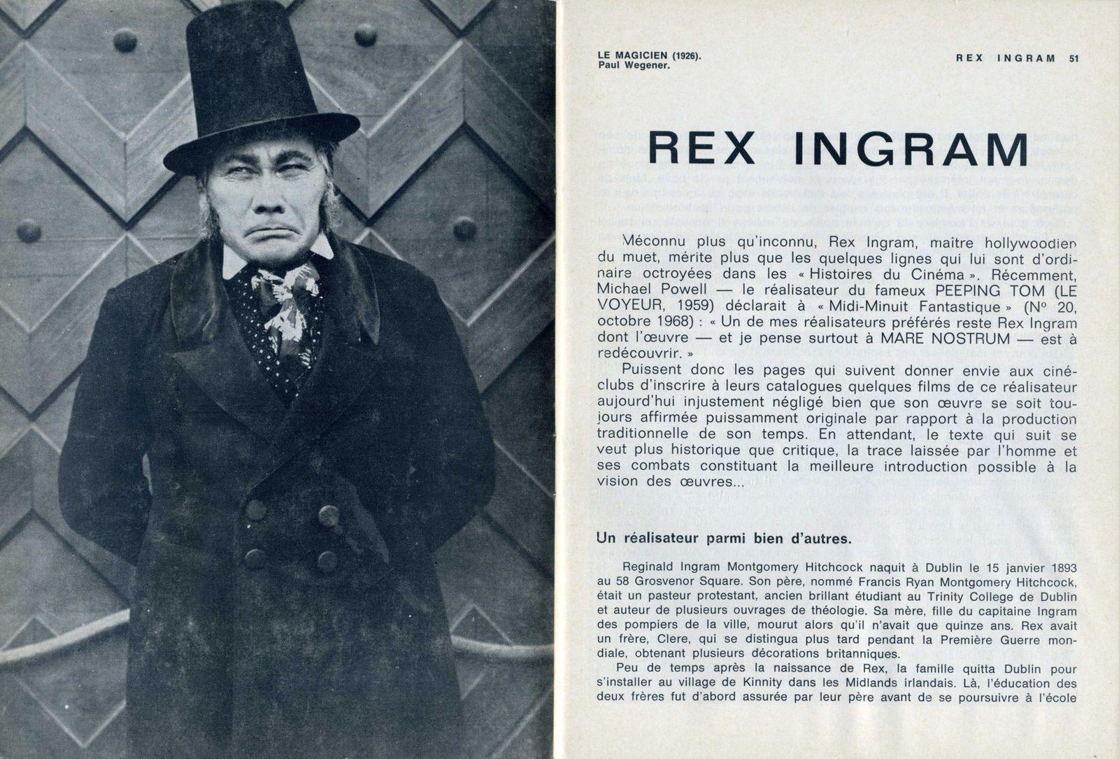 """Rex Ingram : réalisateur des """"Quatres cavaliers de l'apocalyse"""" et de """"Marenostrum"""""""