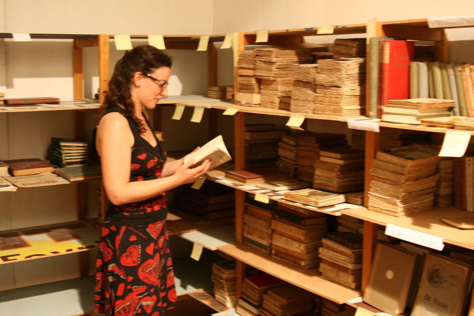 2ème phase de la mission de Cécile Fourrel de Frettes sur la Bibliothèque de Vicente Blasco Ibañez à l'Hôtel d'Adhémar de Lantagnac à Menton