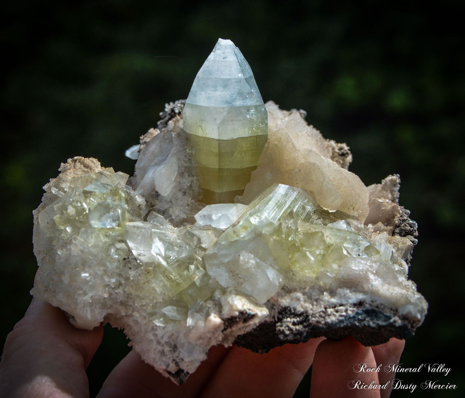 Green Apophyllite from India