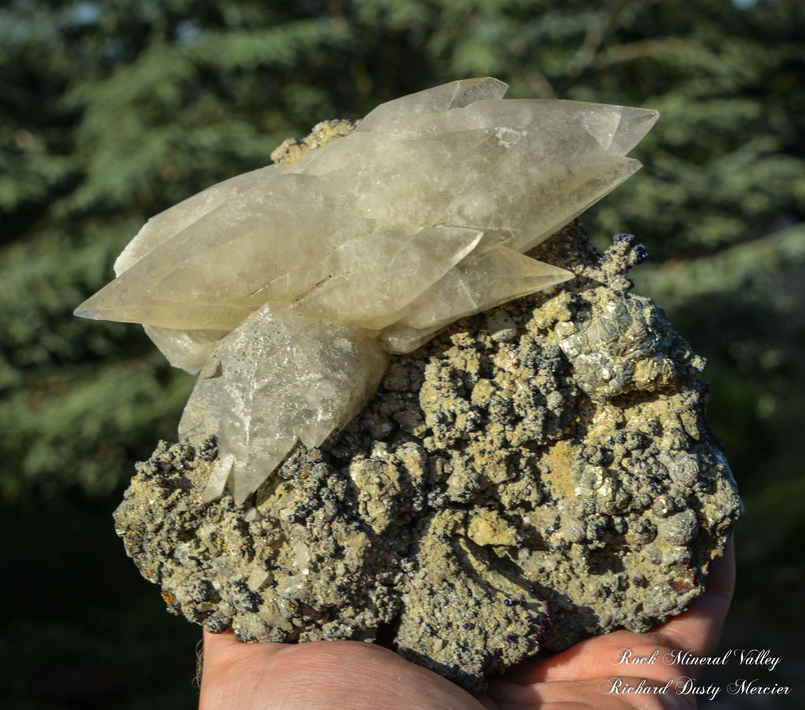 Calcite and Chalcopyrite from USA