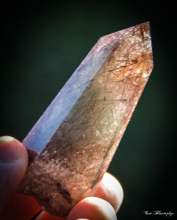 Rutiled (Rutile) and Chlorite Quartz from Brasil (size: Museum)