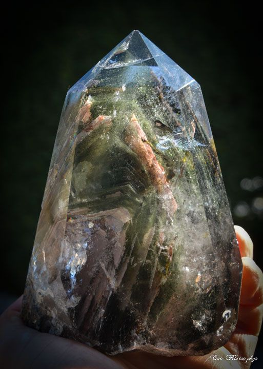 Chlorite and Iron Quartz from Brasil (size: Cabinet)