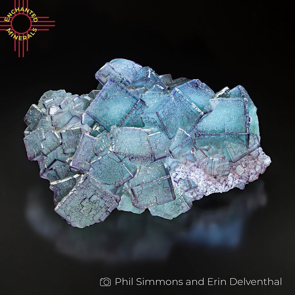 """Fluorite from China (Photo by Phils Simmons and Erin Delventhal """"Enchanted Minerals"""")"""