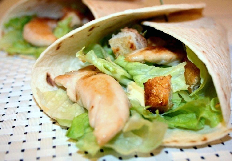 Wrap au poulet façon Salade César
