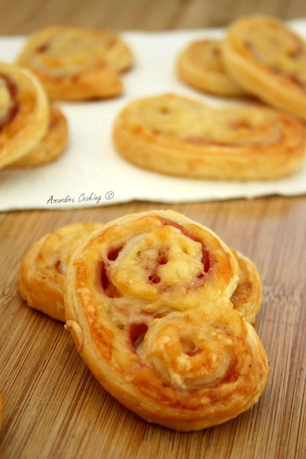 Palmiers salés jambon & gruyère - Amandine Cooking