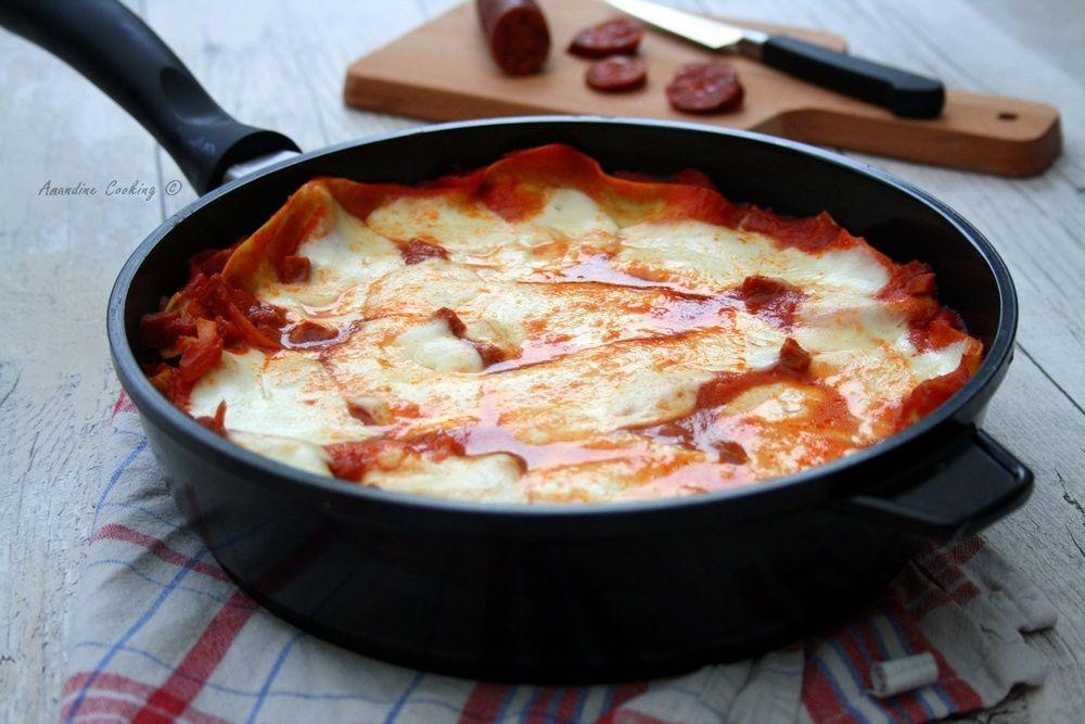 Lasagnes au chorizo (à la sauteuse)