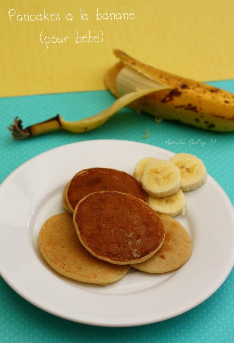 Pancakes à la banane (sans oeuf)