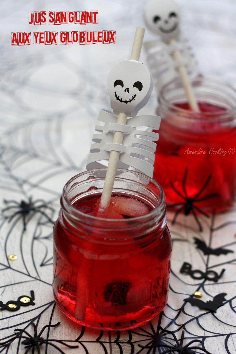Jus sanglant aux yeux globuleux {cocktail pour Halloween}