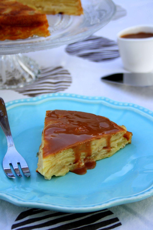 Gâteau invisible aux pommes et sauce carambar