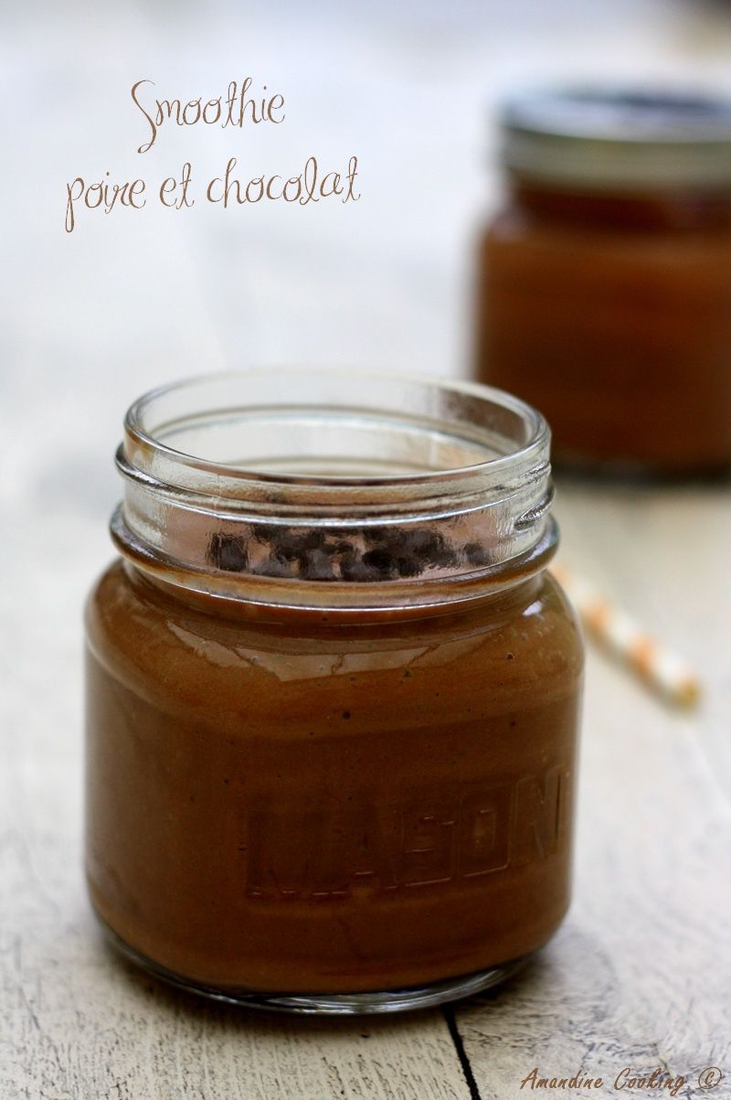 Smoothie poire et chocolat