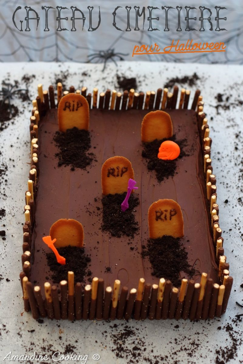 G teau cimeti re pour halloween amandine cooking for Idee deco gateau halloween