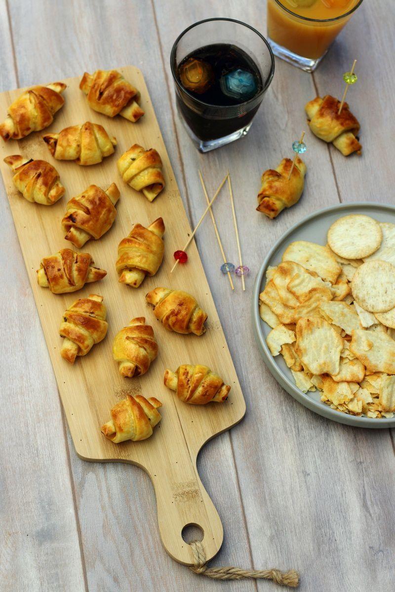 Croissants apéritifs à la moutarde et poulet