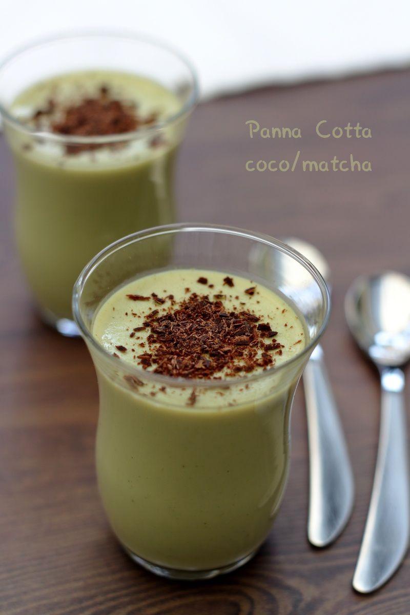 Panna cotta à la noix de coco et thé matcha