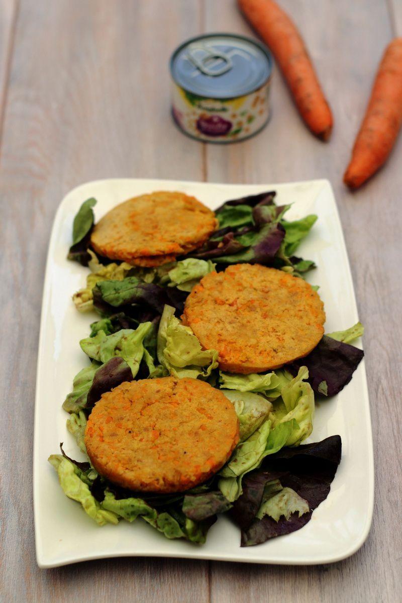 Galettes aux pois chiche et carotte (végétariennes)