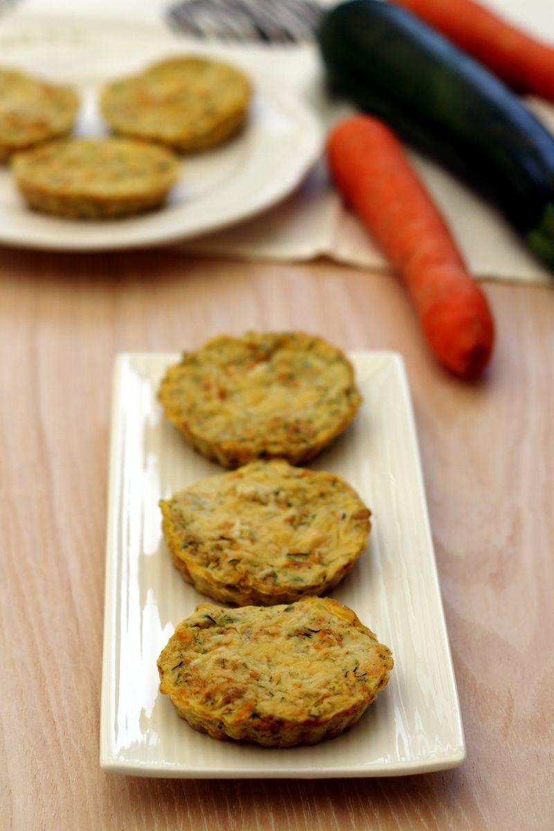 Quiche sans pâte à la courgette et carotte râpées