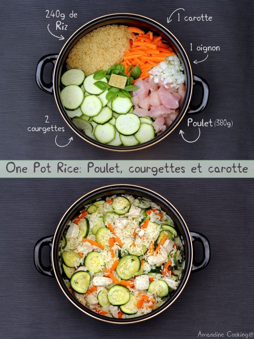 One pot rice: poulet, courgettes et carotte