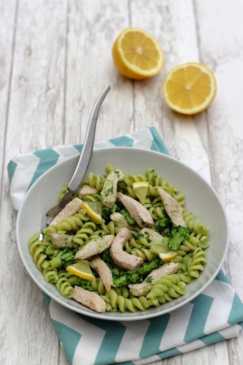 Pâtes sauce brocoli et émincé de dinde