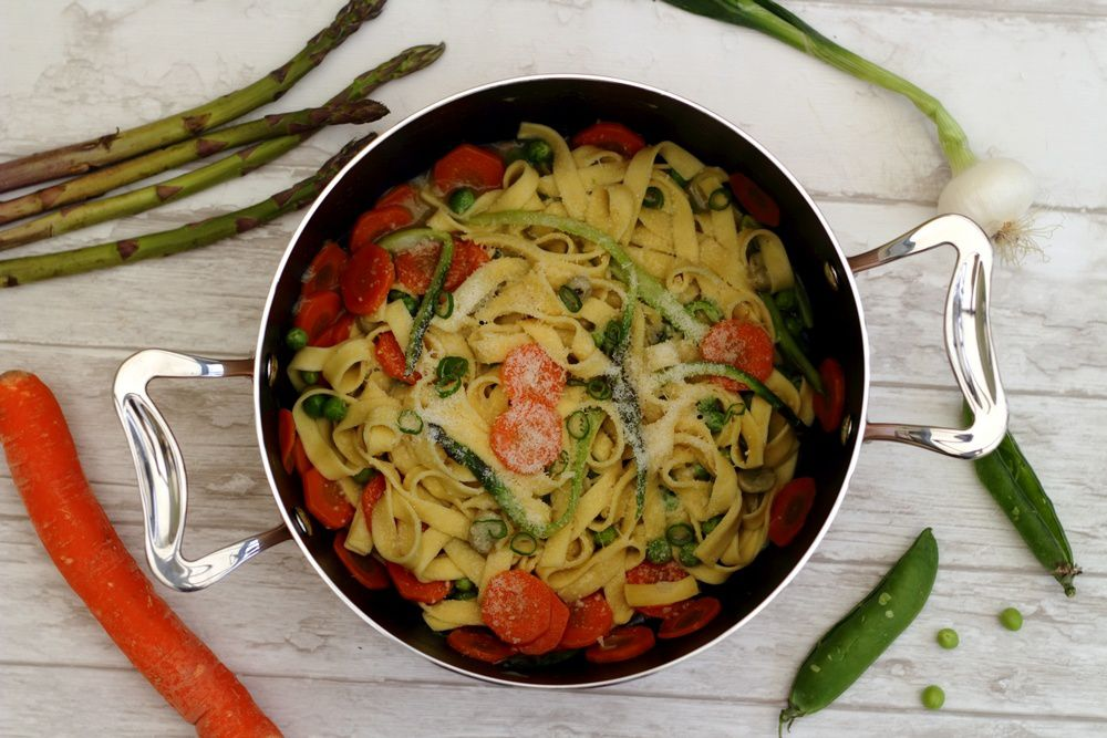 One pot pasta primavera