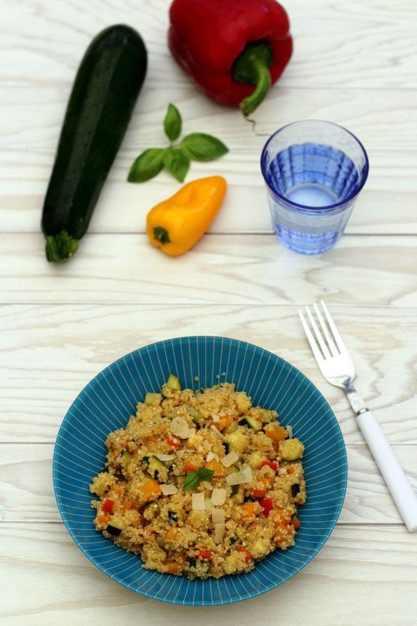 Risotto de quinoa à la courgette et poivron